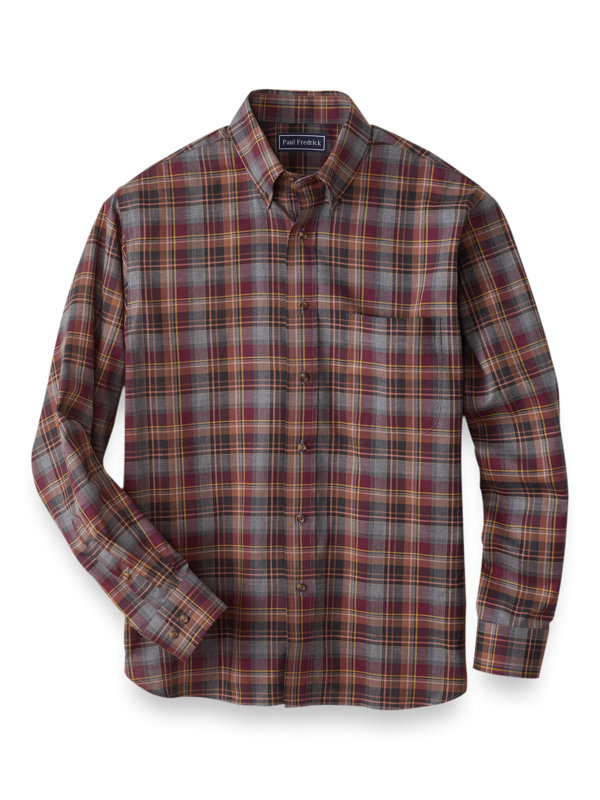 Cotton Plaid Casual Shirt