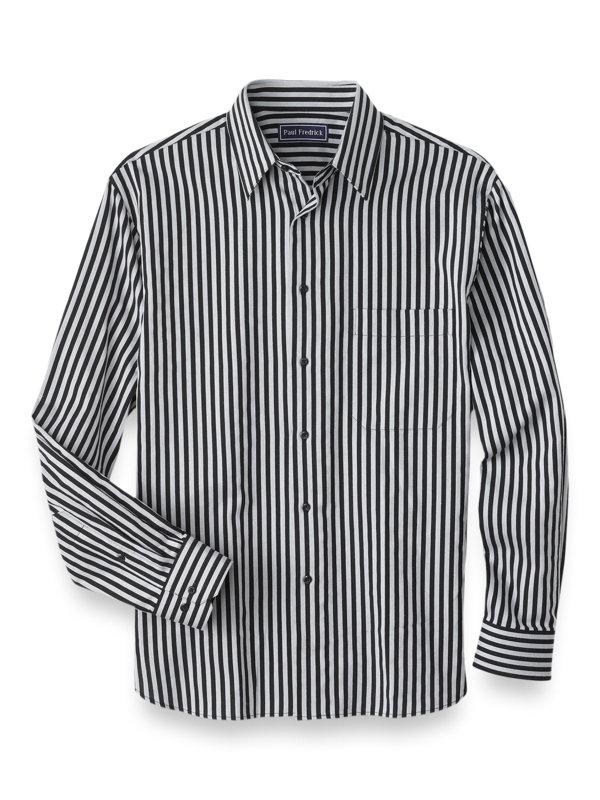 Cotton Cashmere Stripe Casual Shirt