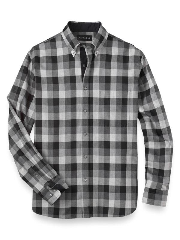 Slim Fit Cotton Plaid Casual Shirt