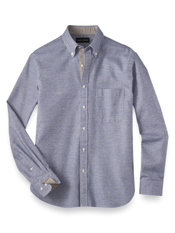 Slim Fit Cotton Flannel Solid Casual Shirt