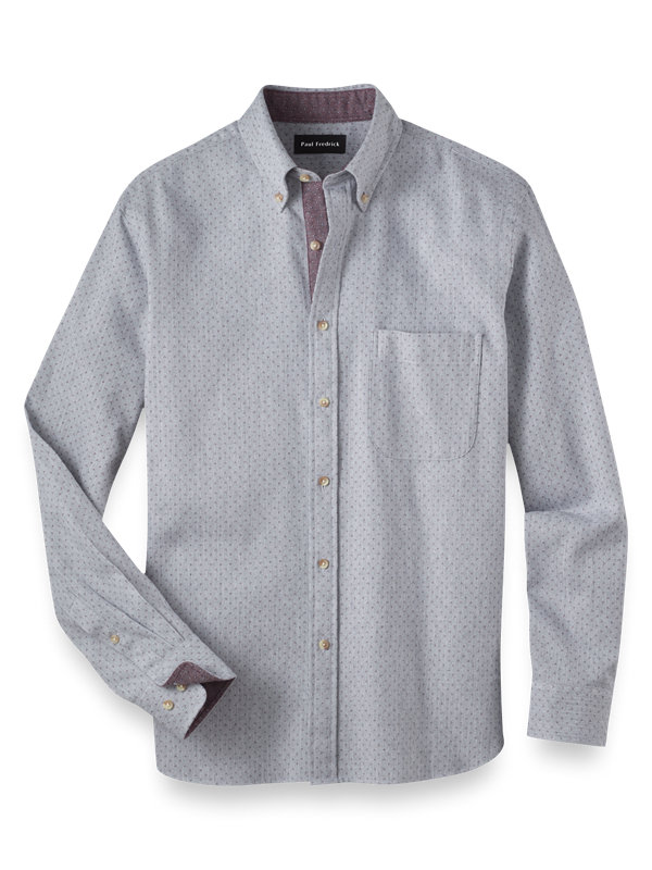 Slim Fit Cotton Flannel Print Casual Shirt