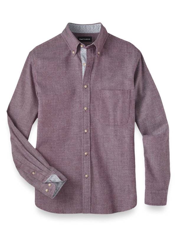 Cotton Flannel Print Casual Shirt