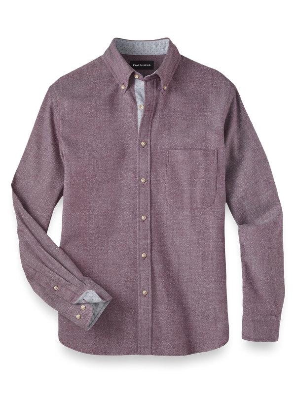 Slim Fit Cotton Flannel Print Casual Shirt
