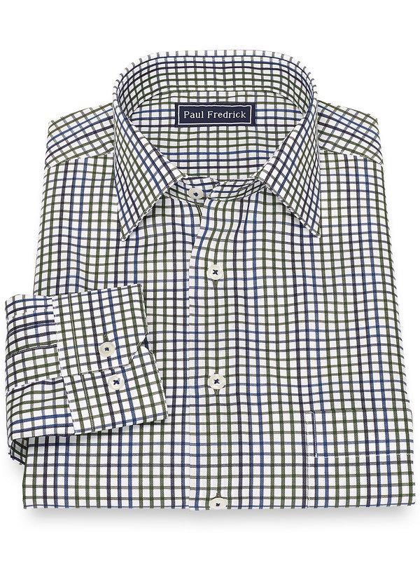 Slim Fit Cotton Tattersall Casual Shirt