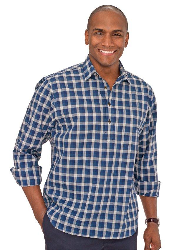Cotton Windowpane Casual Shirt