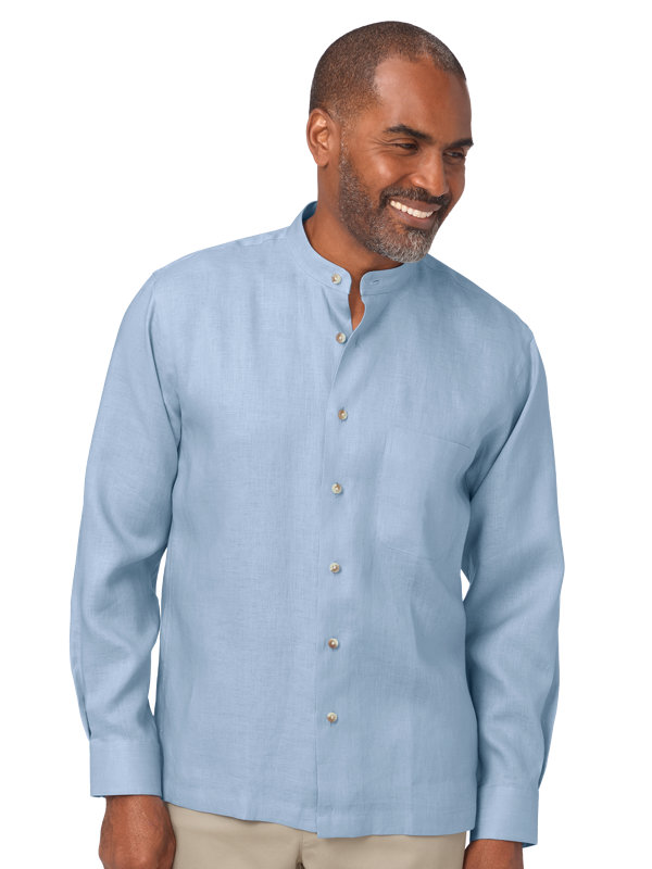 Slim Fit Linen Long Sleeve Casaul Shirt