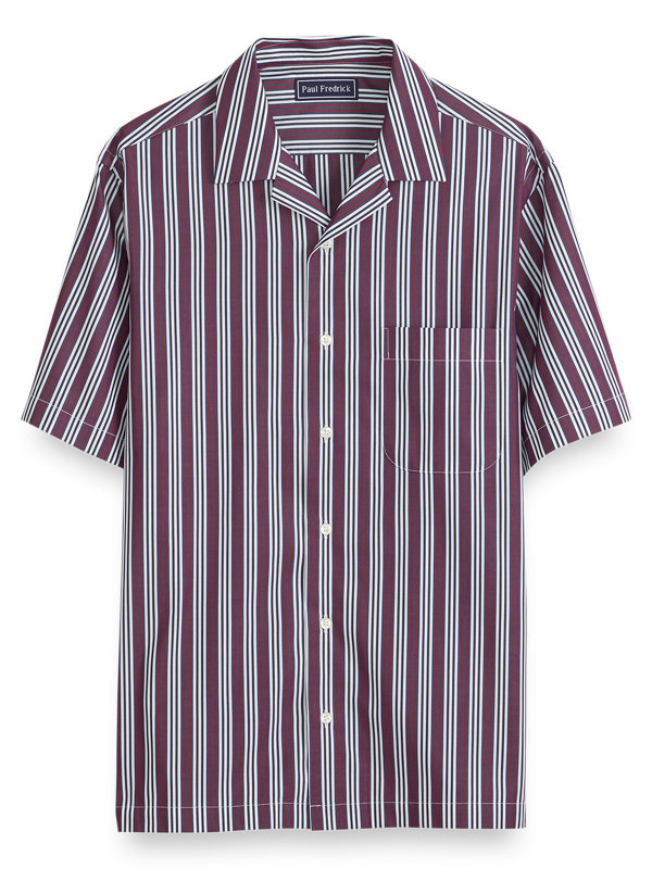 Cotton Stripe Short Sleeve Casual Shirt