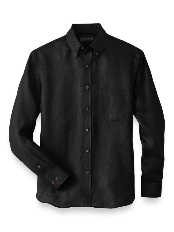 Slim Fit Linen Solid Casual Shirt