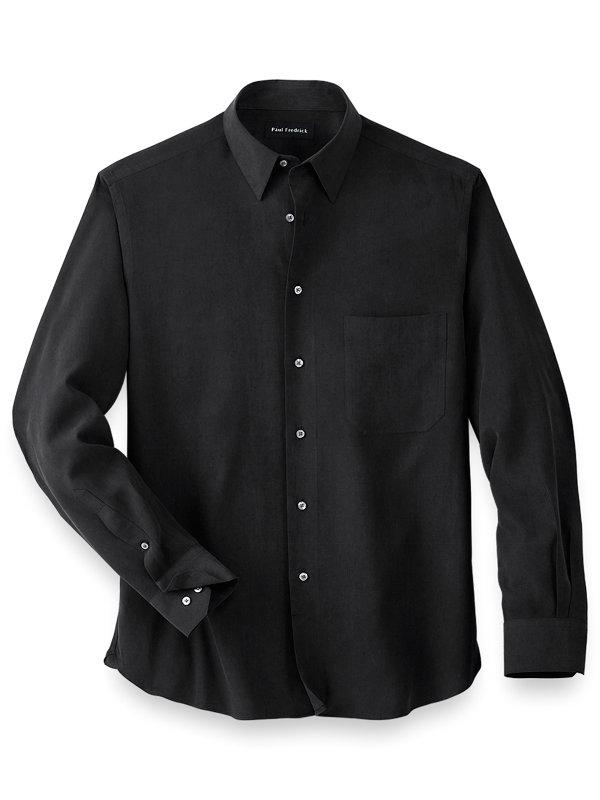 Silk Solid Casual Shirt