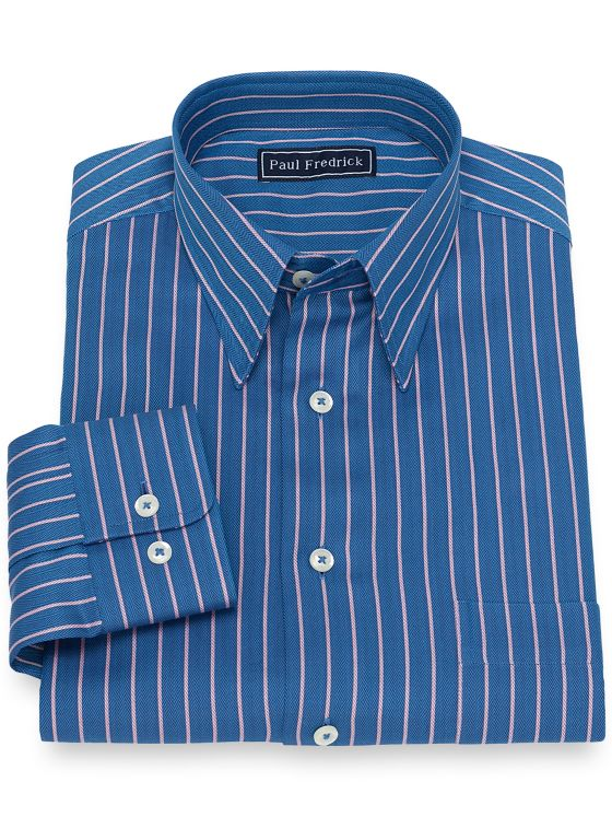 Cotton Herringbone Stripe Casual Shirt