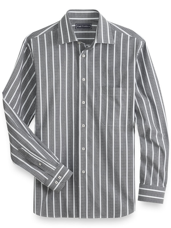 Cotton Diamond Stripe Casual Shirt