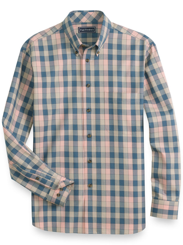 Cotton Buffalo Plaid Casual Shirt