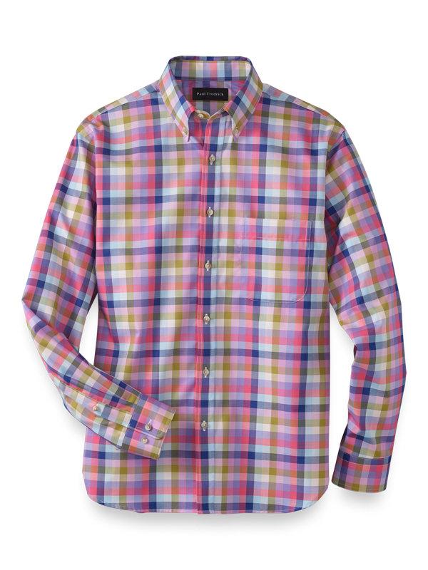 Cotton Gingham Casual Shirt