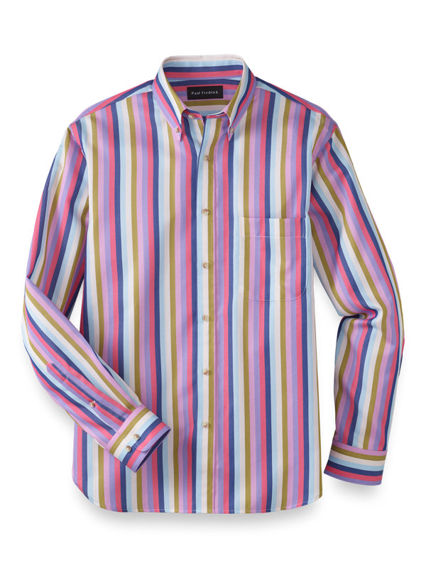Cotton Stripe Casual Shirt