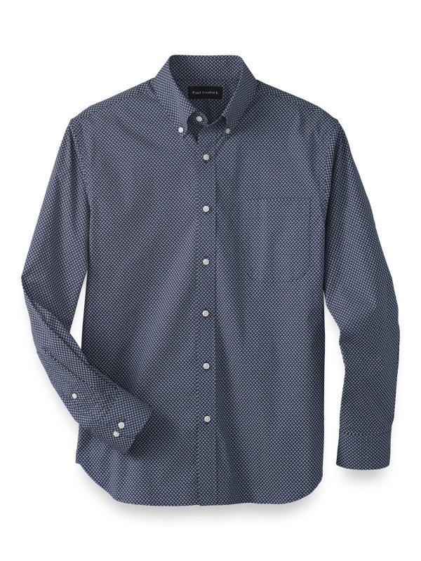 Cotton Stretch Paisley Casual Shirt