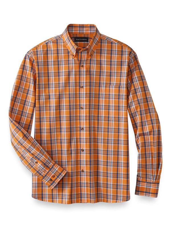 Cotton Plaid Casual Shirt