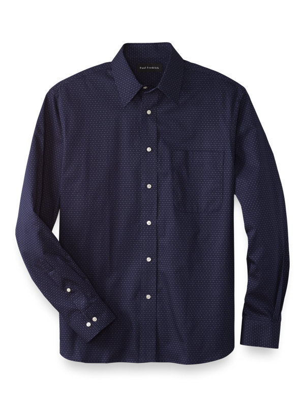Slim Fit Cotton Deco Casual Shirt
