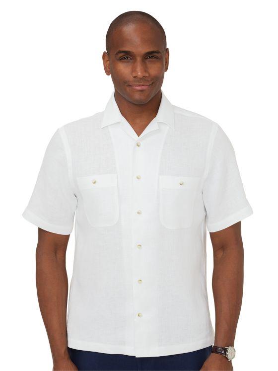 Linen Camp Collar Casual Shirt