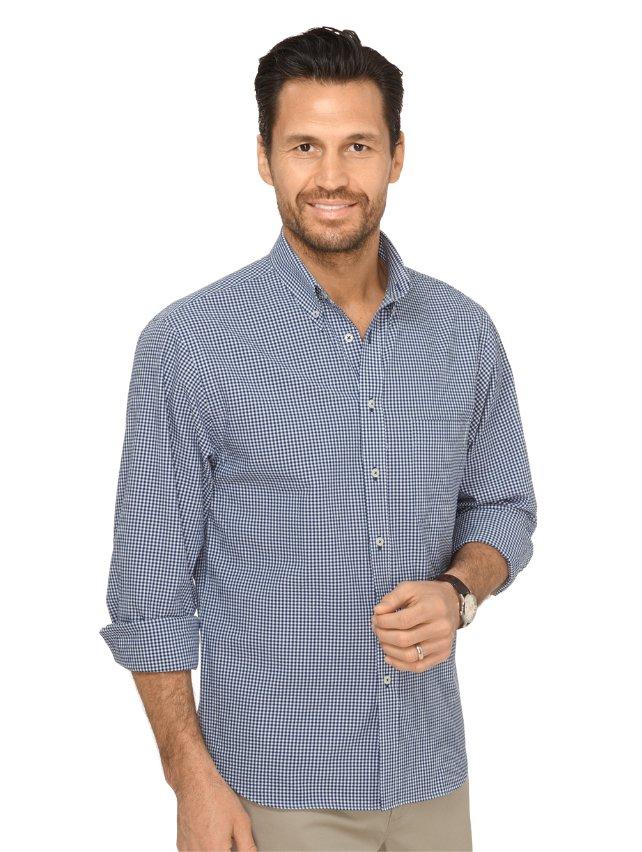 Slim Fit Cotton Seersucker Gingham Casual Shirt