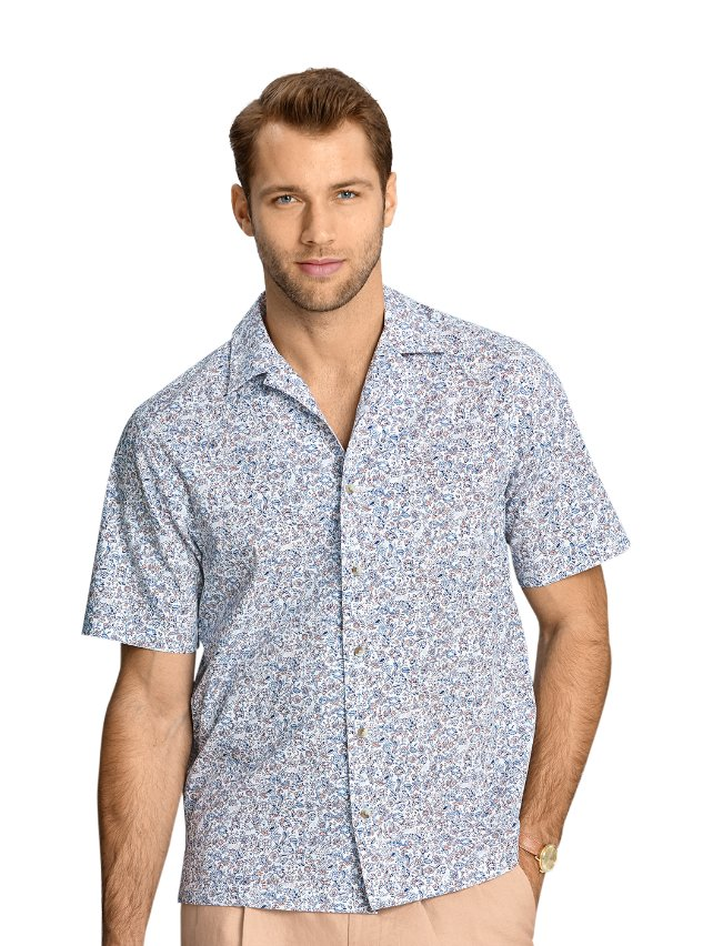 Cotton Floral Print Casual Shirt