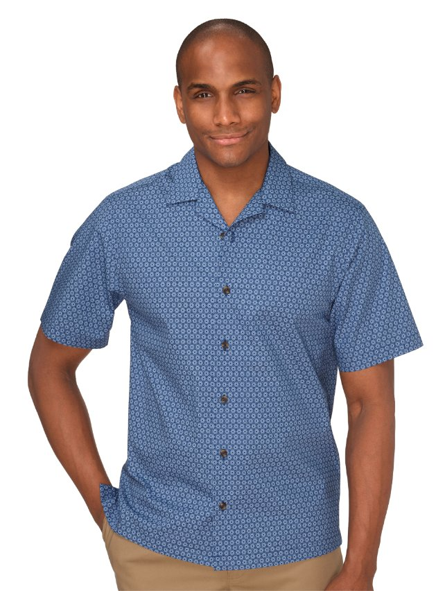 Cotton Medallion Print Casual Shirt