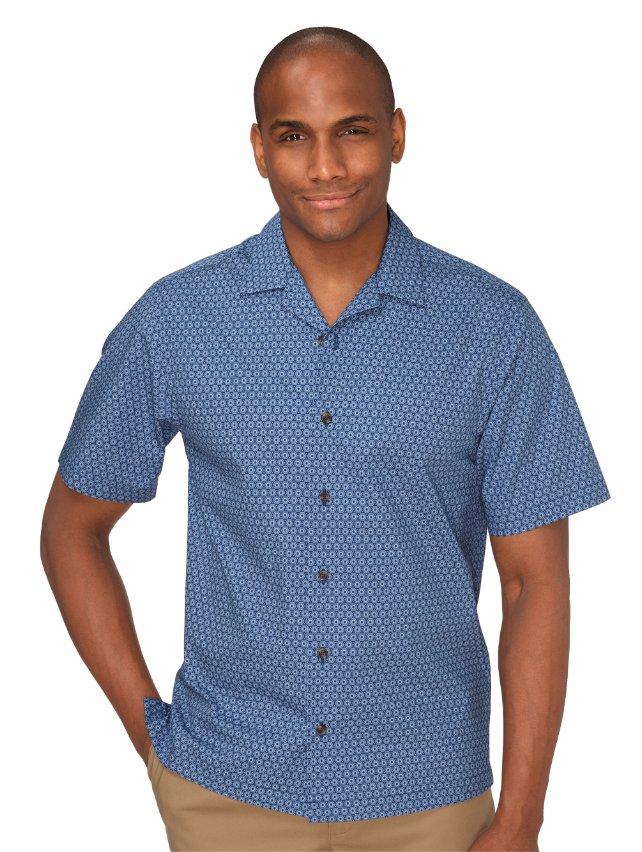 Slim Fit Cotton Medallion Print Casual Shirt