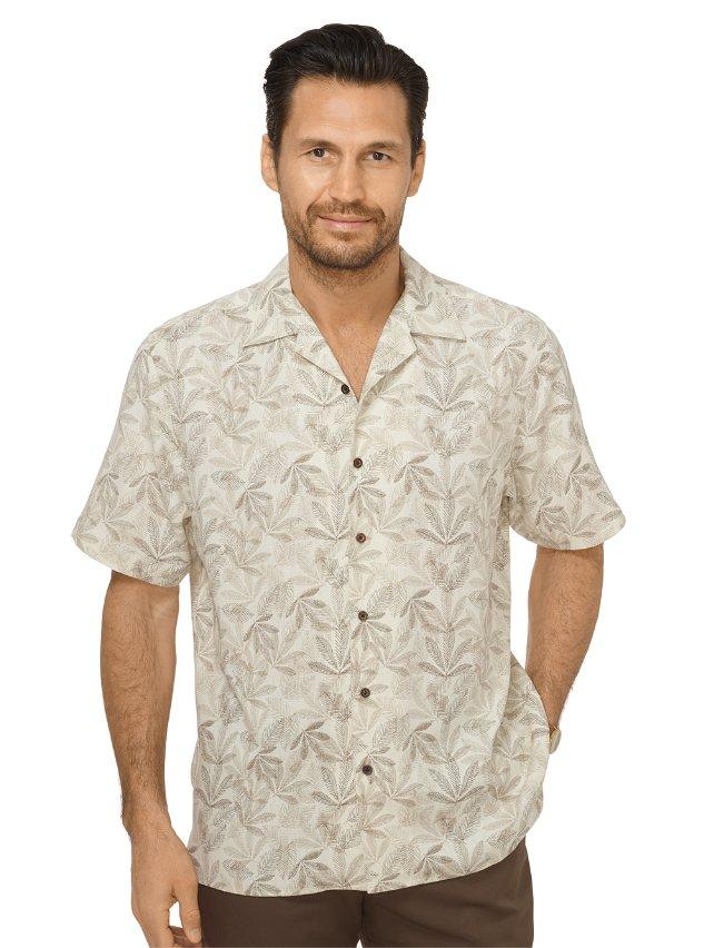 Silk Print Camp Shirt
