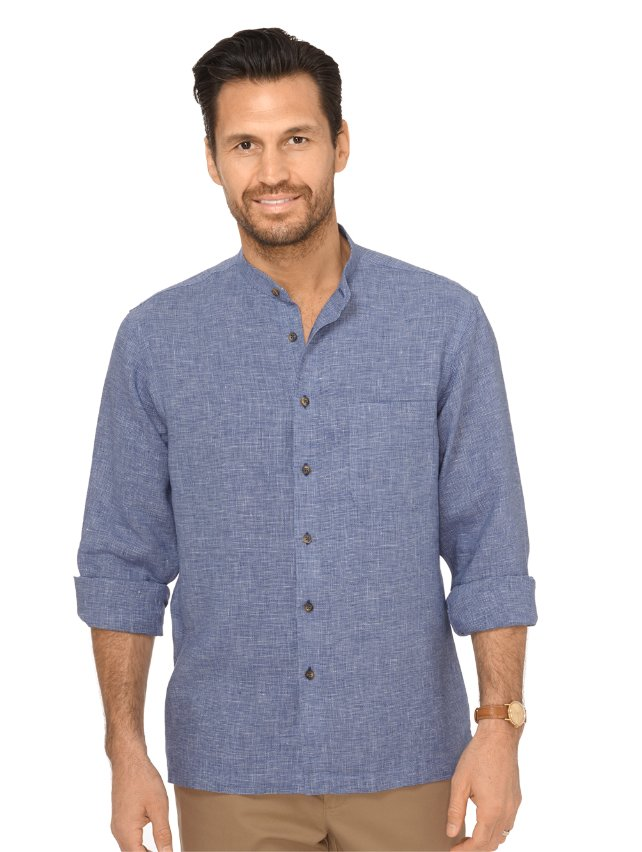 Non-Iron Impeccable Linen Textured Solid Casual Shirt
