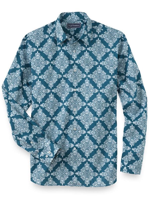 Cotton Medallion Batik Print Casual Shirt