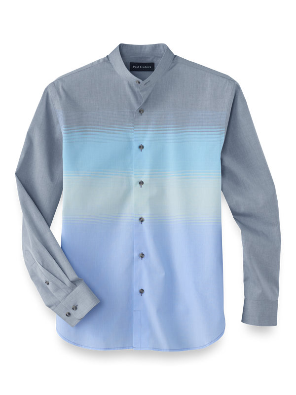 Slim Fit Cotton Ombre Casual Shirt