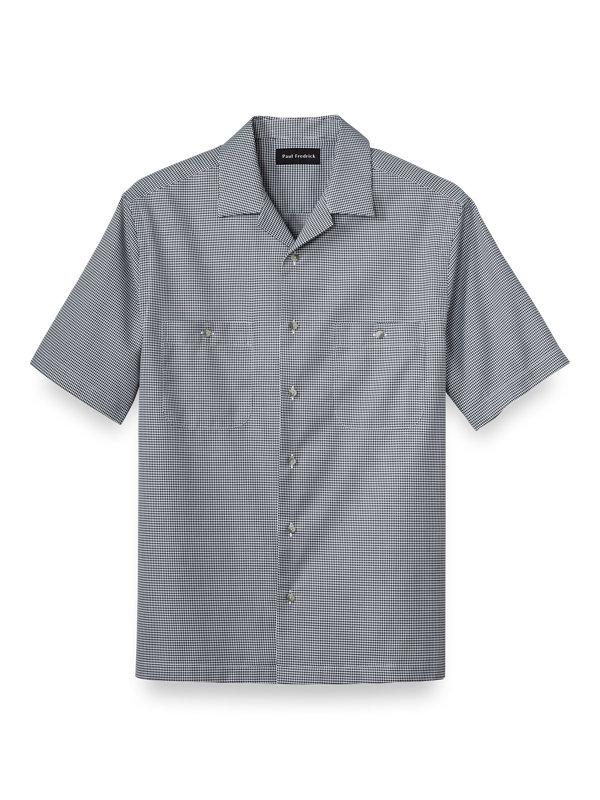 Cotton Diamond Pattern Casual Shirt