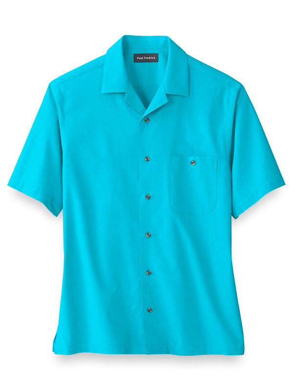 Slim Fit Cotton Blend Solid Casual Shirt
