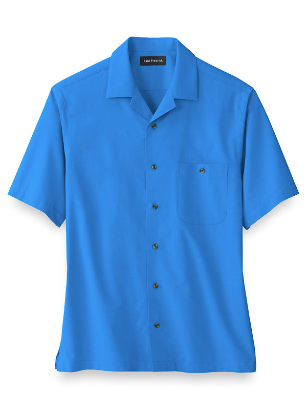 Cotton Blend Solid Casual Shirt