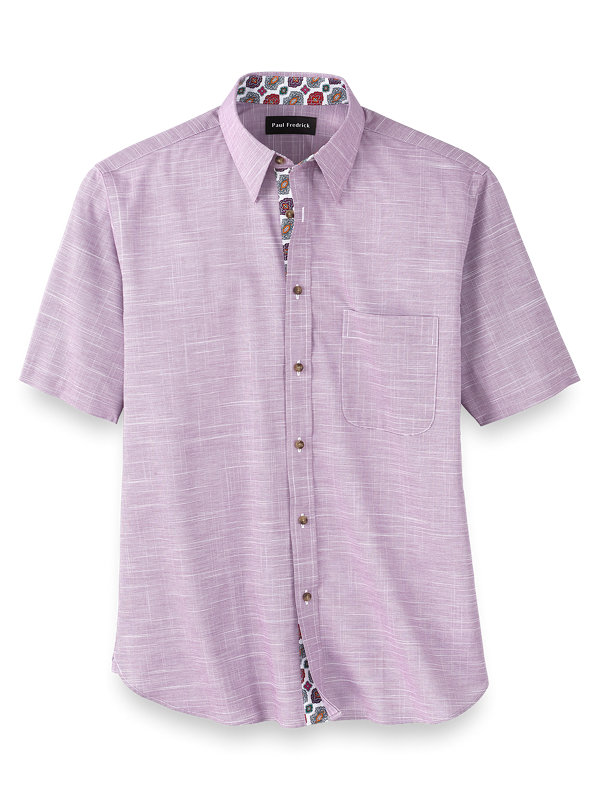 Slim Fit Easy Care Cotton Solid Casual Shirt