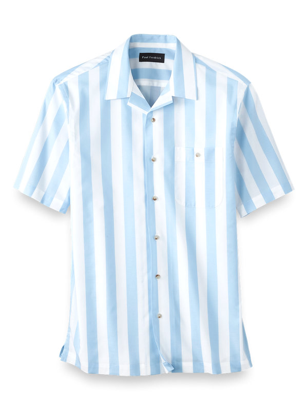 Easy Care Cotton Wide Stripe Casual Shirt