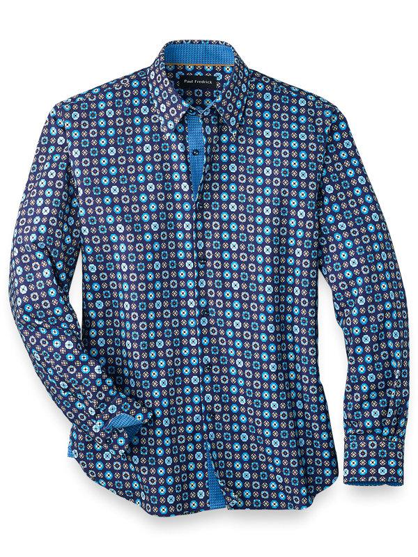 Cotton Blend Deco Casual Shirt