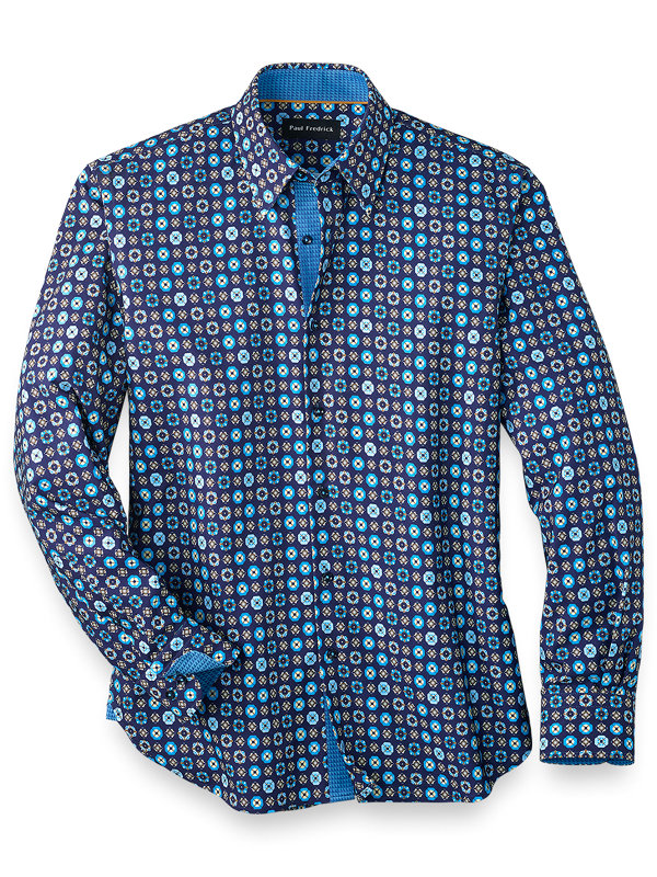 Slim Fit Cotton Blend Deco Casual Shirt
