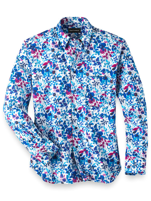 Easy Care Cotton Floral Casual Shirt