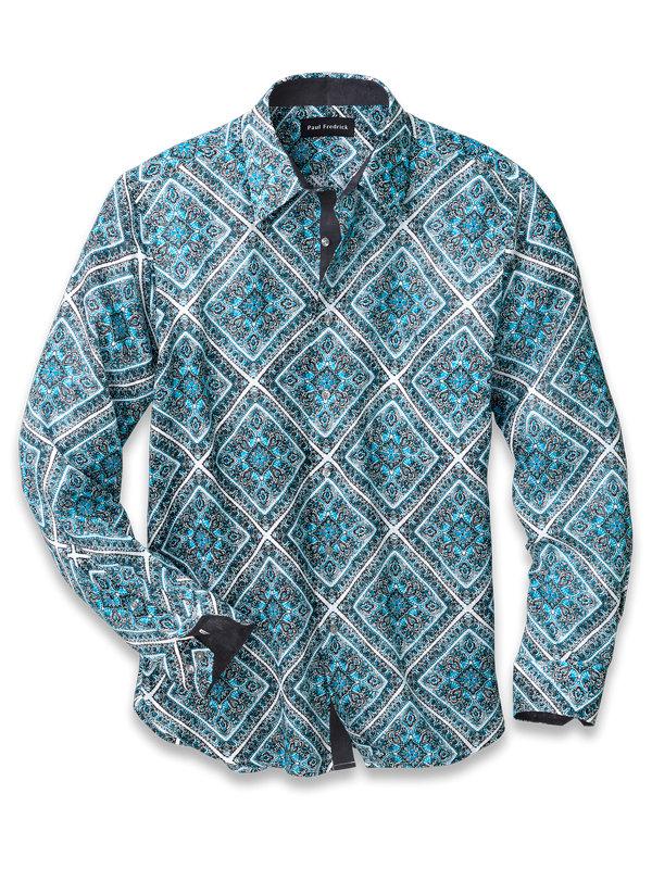 Linen Medallion Print Casual Shirt