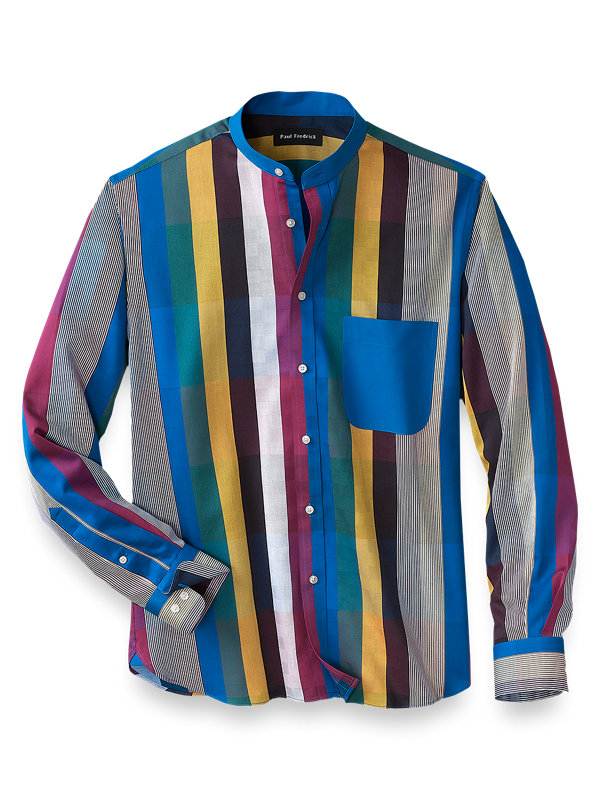 Cotton Multi Stripe Casual Shirt