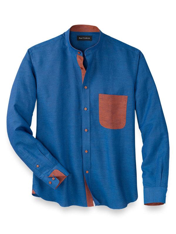 Slim Fit Linen Cotton Solid Casual Shirt