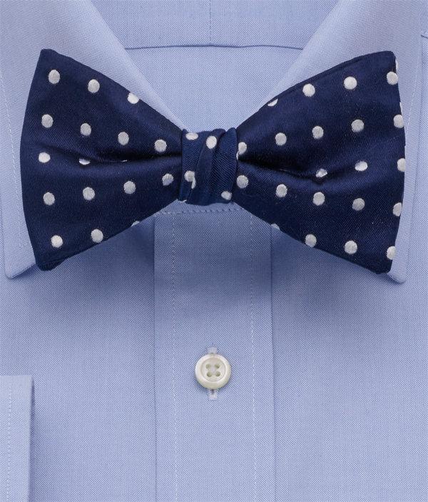 Dot Pre-Tied Silk Bow Tie