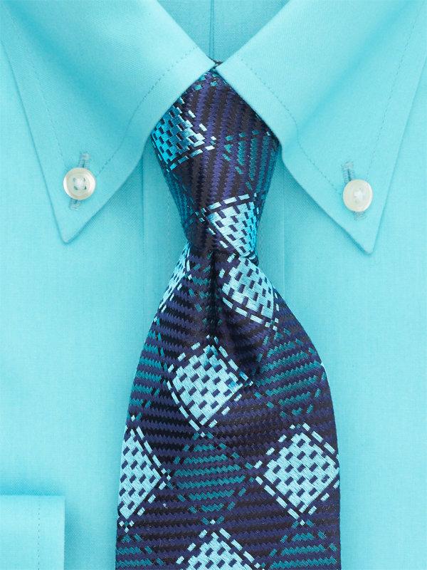 Plaid Silk Tie