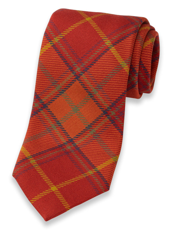 Italian Plaid Silk Tie