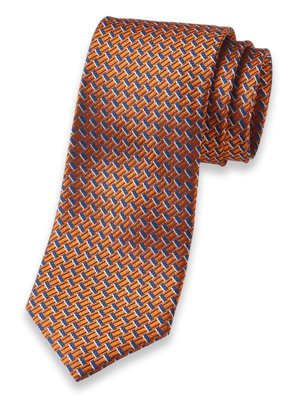 Grid Woven Silk Tie