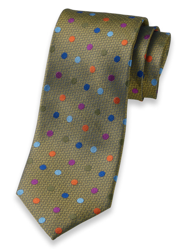 Dot Woven Silk Tie