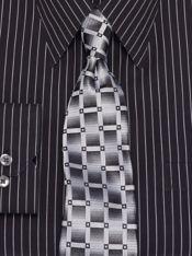 Grid Silk Tie