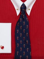Candy Cane Silk Tie