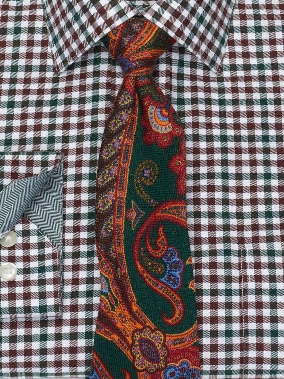 Paisley Printed Wool Tie