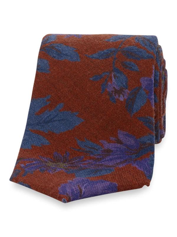 Italian Floral Wool Tie